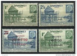 """Dahomey YT 149 150 153 154 """" Pétain """" 1941-44 Neuf* - Unused Stamps"""