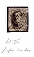 1851  Médaillon, 6 A, (papier épais) (pl III) (poste 30),  Cote 9 €,  Grandes Marges Et Deux Voisins - 1851-1857 Medallions (6/8)
