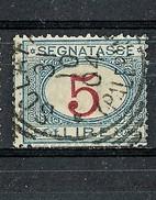 Anno 1903 - Segnatasse 5 L. Azzurro E Carminio. Usato - 1900-44 Vittorio Emanuele III