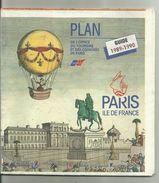 PLAN DE  PARIS Avec Tous Les Monuments à Visiter. - Wegenkaarten