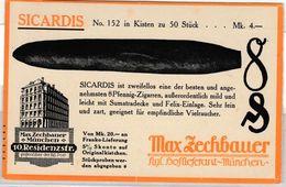 Bayern - München, Zechbauer Zigarren, Werbekarte Gelaufen 1914 - Non Classificati