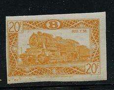 N° TR 316   ND  Locomotive Vapeur, Train - Railways - Belgique