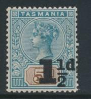 TASMANIA, 1902 1½d On 5d Superb MM - Gebraucht