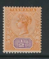 TASMANIA, 1892 ½d Very Fine MM - Gebraucht