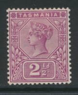 TASMANIA, 1892 2½d Very Fine MM - Gebraucht