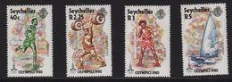 Seychelles - N°446 à 449 - Jeux Olympiques Moscou 1980  - Cote 4€ - Seychelles (1976-...)