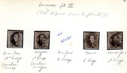 1851  Médaillon, 4 X  6 Ob (nuances),  Cote 40 €, - 1851-1857 Medallions (6/8)