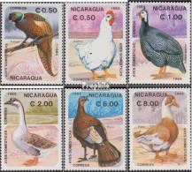 Nicaragua 2599-2604 (kompl.Ausg.) Postfrisch 1985 Haustiere: Vögel - Nicaragua