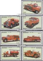 Nicaragua 2457-2463 (kompl.Ausg.) Postfrisch 1983 Feuerwehrautos - Nicaragua