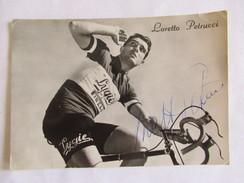CARTE POSTALE CYCLISME LORETTO PETRUCCI SIGNEE - Cyclisme