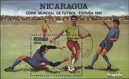 Nicaragua Block142 (kompl.Ausg.) Postfrisch 1982 Fußball-WM 1982 Spanien - Nicaragua