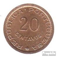Mosambik KM-Nr. : 88 1974 Sehr Schön Bronze Sehr Schön 1974 20 Centavos Wappen - Mozambique