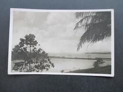 AK Echtfoto 1938 Panama Canal With Railroad Dam. Canal Zone. Cristobal - Panama