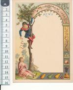 MENU Vierge - Façon Chromo, Dorures - Les  Cerises - Menus