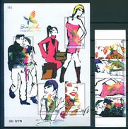 TH 2004 Fashion Week 4v Se-tenant + Bl. S/S MNH - Tailandia