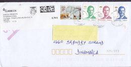 Spain Carta Urgente EXPRÉSS Label PAMPLONA-IRUNA 2017 Cover Letra BRØNDBY STRAND Denmark Elephant Elefant 3x Felipe 6. - 1931-Heute: 2. Rep. - ... Juan Carlos I