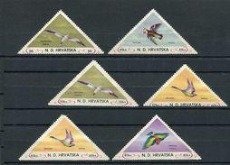 (lot 0685 - 2) Croatie **, Sans Gomme - Lot De 6 Tbres - Oiseaux - - Croatia