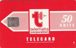 Malta, MT-MLT-0001B, Big Telemalta Logo - Orange (Matt), 2 Scans.    Impressed Control Number: 5 Digits - Malta