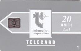 Malta, MT-MLT-0008C, Telemalta Logo With Lm - Grey, 2 Scans.    SI-5 Chip 5 Digits Impressed - Malta