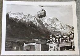 Foto Montagna Courmayeur 1950 - Scorcio E Funivia Mt 1224 - Non Classificati