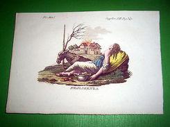 Stampa Incisione Mitologia - NEGLIGENZA - 1700 Ca - Prints & Engravings