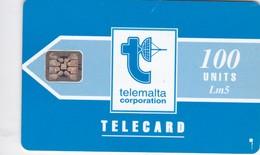 Malta, MT-MLT-0010A, Telemalta Logo With Lm - Blue, 2 Scans.    Embossed Control Number: 5 Digits. - Malta
