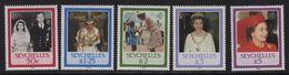 Seychelles - N°601 à 605 - Elisabeth II - Cote 5.75€ - Seychelles (1976-...)