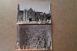 LOGUIVY LEZ LANNION-  L'église Et Intérieur De L'église Panneau De Bois Sculpté (22 Cotes D'Armor) - France