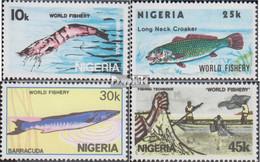 Nigeria 421-424 (kompl.Ausg.) Postfrisch 1983 Fischerei - Nigeria (1961-...)