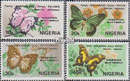 Nigeria 400-403 (kompl.Ausg.) Postfrisch 1982 Schmetterlinge - Nigeria (1961-...)
