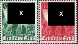 Deutsches Reich 632-633 (kompl.Ausg.) Postfrisch 1936 Parteitag - Deutschland