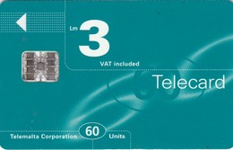 Malta, MT-MLT-0031, Logo Turqoise, 2 Scans.    Chip SC7   Orange Printed Control Number: C+8 Digits. - Malta