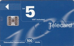 Malta, MT-MLT-0036C, Logo Blue, 2 Scans.     SI-7 Chip C6B-6 Digits Stamped. - Malta
