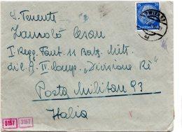 Allemagne , Lettre 1940 , Pour  Militaire Italien , Censure Allemande (47/48) - Lettres & Documents