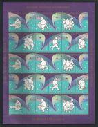 Greenland 1988 Christmas Seals Sheet  ** - Blocks & Sheetlets