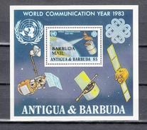 Barbuda Mail 1983,1V In Block,aerospace,ruimtevaart,luft Und Raumfahrt,de L'aérospatiale ,MNH/Postfris(L3278) - Espace