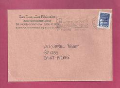 Lettre Locale De Saint Pierre Et Miquelon De 2000 - YT N° 664 - Flamme - St.Pierre Et Miquelon