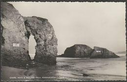 Chapel Rock & Natural Arch, Perranporth, Cornwall, C.1960s - Harvey Barton RP Postcard - England