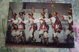 Moldova. Moldavian Ritual Men Folk DANCE - OLD USSR PC 1974 - Moldavie