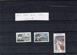 Lot Timbres - SAINT PIERRE ET MIQUELON - N° 573. 591. 592. - - Collections, Lots & Series