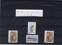 Lot Timbres - SAINT PIERRE ET MIQUELON - N° 607. 611. 612. 613. - - St.Pierre & Miquelon
