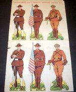 Marca Stella Foglio N° 8 Esercito Fanteria USA 1930 - Giocattoli Antichi
