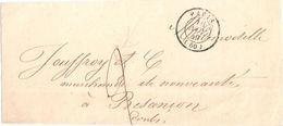 4225 PARIS (60) 18 11 1849 2 Décimes Dest Besançon Probablement Bande Pour Imprimé Pas De Texte Juste Un Collage - Marcophilie (Lettres)