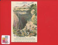 Chromo Didactique Vieillemard  Fag Curiosités Naturelles France Grotte LA BALME AMBERIEU TORRENT - Chromos