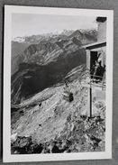 Foto Montagna Courmayeur 1950 - Arrivo  Funivia Ghiacciai Del Monte Bianco 1950 - Non Classificati