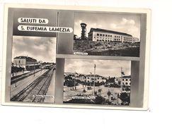 M4872 CALABRIA SANTA EUFEMIA LAMEZIA TERME STAZIONE VEDUTINE 1956 VIAGGIATA - Lamezia Terme