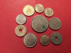 Lot De 10 Pièces Espagnoles Voir Le Scan - Coins & Banknotes