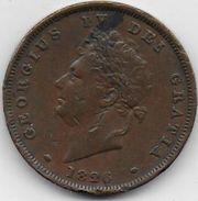 GRANDE BRETAGNE - Georges IV - Penny  1826 - 1816-1901 : Frappes XIX° S.