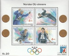 Norwegen Block17 (kompl.Ausg.) FDC 1992 Winterolympiade - FDC