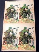 Marca Stella Foglio N° 6 Esercito Bersaglieri 1930 - Giocattoli Antichi